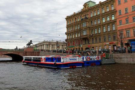 SAINT PETERSBURG, RUSSIA - APRIL 22:Street views of Saint Petersburg, Russia on April 22, 2015. 新聞圖片