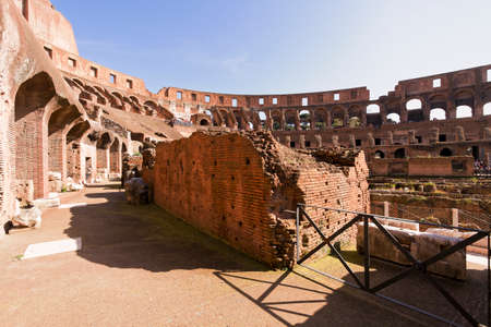 sees: Rome, Italy - April 7, 2013: Ancient Roman Coliseum sees around 4 million tourists a year and is the worlds 39th most popular destination Editorial