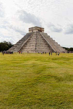 annually: Chichen Itza, Mexico - October 30, 2012: Chichen Itza Maya ruins has 14 million visitors annually, it is 11th most visited site in the world