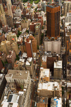 high rises: New York, USA- June 26, 2012: Rooftop view of New York City. It is the most densely populated city in the USA.