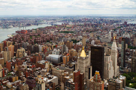 high rises: Rooftop view of New York City. It is the most densely populated city in the USA.