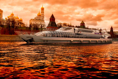 architectural tradition: MOSCOW, RUSSIA - The Kremlin is a fortified complex at the heart of Moscow, overlooking the Moskva River to the south, Saint Basils Cathedral and Red Square to the east, and the Alexander Garden to the west. It includes five palaces, four cathedrals, and