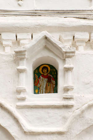 iconography: Russian Orthodox Icons in a monastery.