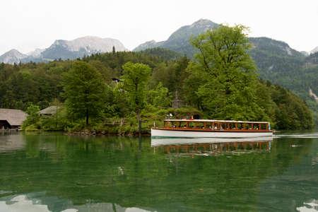Scenic Lake Konigsee in Bavarian Alps. Stok Fotoğraf