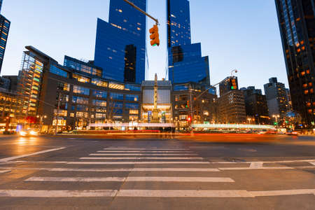New York City, USA-April 2, 2017: Time Warner Center viewed from Columbus Circle, it had the highest-listed market value in New York City, $1.1 billion, in 2006.