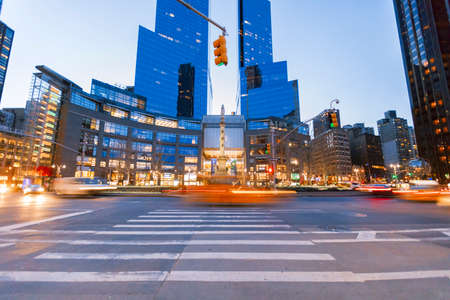 upscale: New York City, USA-April 2, 2017: Time Warner Center viewed from Columbus Circle, it had the highest-listed market value in New York City, $1.1 billion, in 2006.