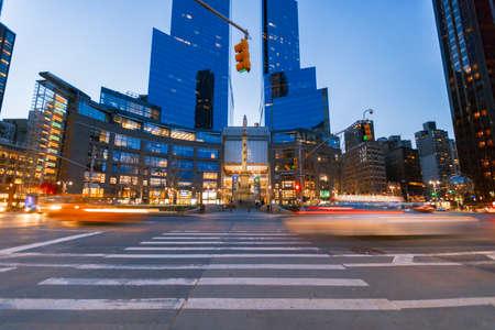 ニューヨーク市、米国-月 2 日 2017: タイム ・ ワーナー ・ センターは、コロンバス サークルから見た、それは 2006 年に $ 11 億、ニューヨーク市最高