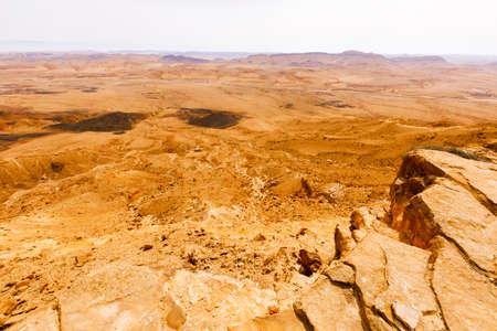Desert landscapes in Israeli Negev Desert. 版權商用圖片
