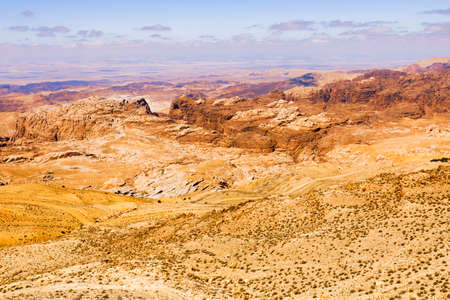 Scenic view of Jordanian desert.