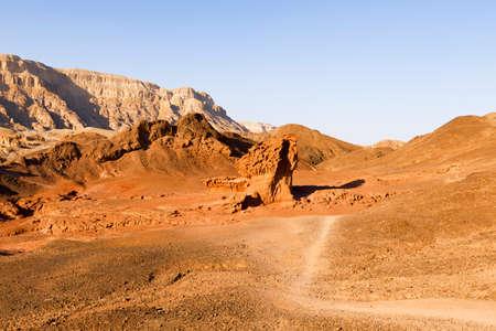timna: View of Timna Valley in Israeli Negev Desert. Stock Photo