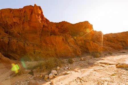 View of Timna Valley in Israeli Negev Desert. Imagens