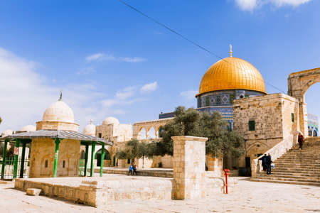 Jerusalem, Israel- March 14, 2017: View of Al-Aqsa mosque on the Temple Mount in Jerusalem. The third holiest place in Islam.