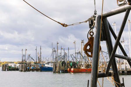 Galilee, Rhode Island, USA-May 11,2017: Galilee is a home to the largest fishing fleet in Rhode Island. Editorial