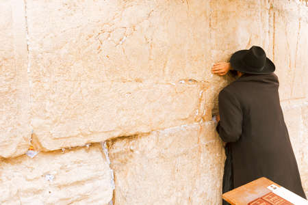 Jerusalem, Israel-March 14, 2017: The Western Wall is the holiest place where Jews are permitted to pray, though it is not the holiest site in the Jewish faith, which lies behind it, on Temple Mount. Editorial