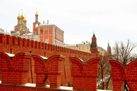 spiritual architecture: MOSCOW, RUSSIA - April 8, 2015: Views of the Kremlin-fortified complex at the heart of Moscow. It serves as the official residence of the President of the Russian Federation. Editorial