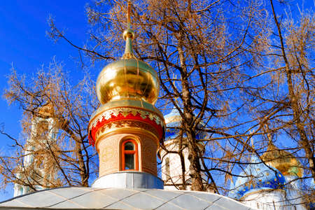 Sergiev Posad, Russia-April 9, 2015: The Trinity Lavra of St. Sergius is the most important Russian monastery and the spiritual centre of the Russian Orthodox Church.