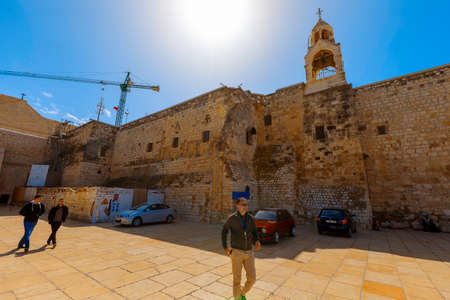 Bethlehem, West Bank- March 12, 2017: In 2012, the Birthplace of Jesus- Church Of Nativity became the first Palestinian site to be listed as a World Heritage Site.