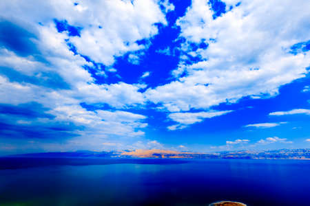 View of the Dead Sea in Israel.