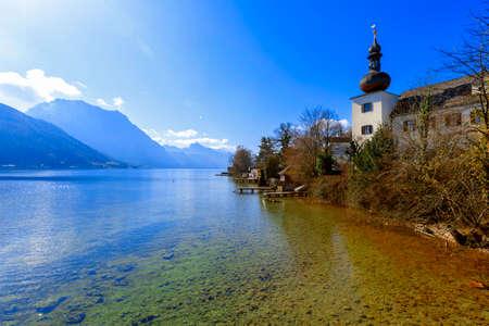 Beautiful View of Bavarian Alpine lake