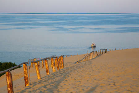 Nida is a resort settlement on the Curonian Spit in Lithuania. Sand dunes.
