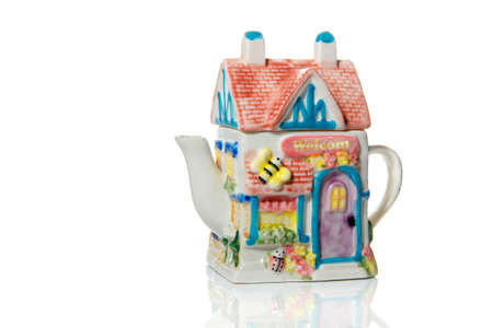 Original teapot in the form of a tea house.