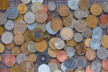 Background of coins of different countries. Money. 写真素材