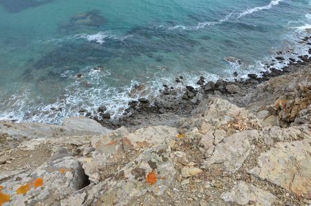 mediteranean: Cliffs and sea