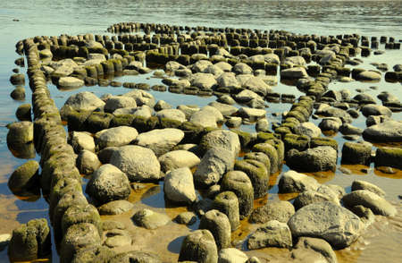 sand mold: The picture was taken in Estonia in the mouth of the River Narva. Stock Photo