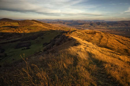 autumn landscape on top of a hill Stock Photo - 13840855