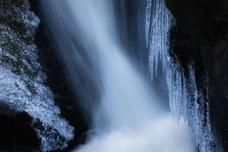 Ice near a waterfall in winter Stock Photo - 16400273