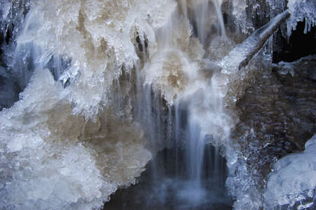 Frozen water shapes on a rover Stock Photo - 16400277