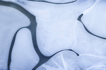 Abstract lines on ice in winter Stock Photo - 18708458