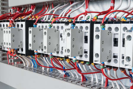 Ordinaire Several Contactors Arranged In A Row In An Electrical Closet... Stock  Photo, Picture And Royalty Free Image. Image 83504270.