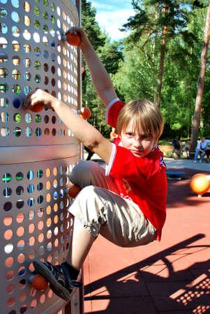 rockclimber: young rock-climber