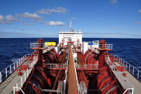 ship deck: deck of chemical tanker