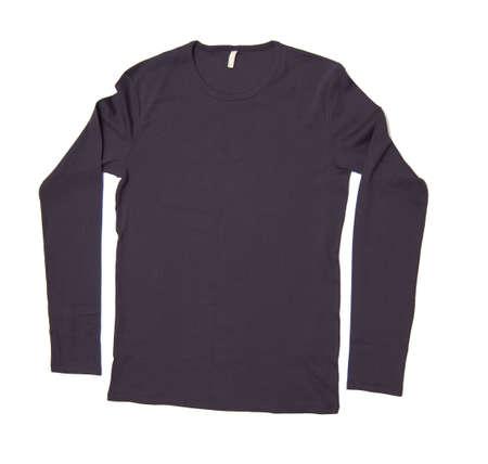 long sleeve shirt isolated on white background