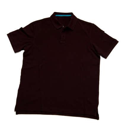 shirtsleeves: black polo isolated on white background