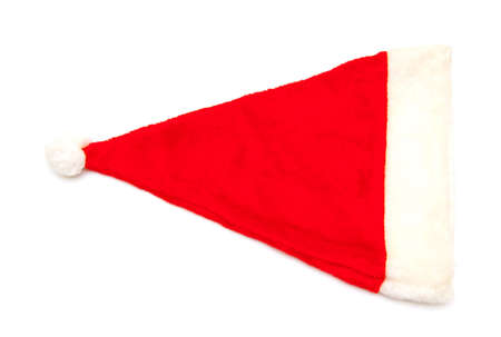 red hat of santa claus on white