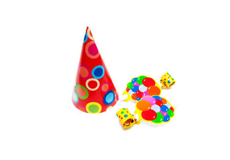 party objects isolated on white background Stock Photo