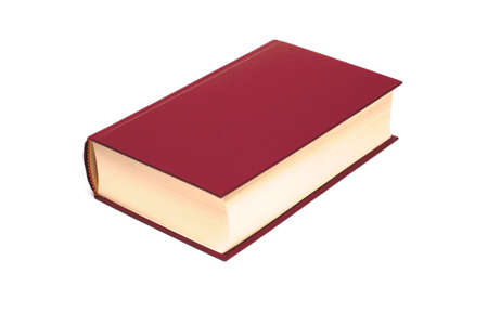 big book on white background