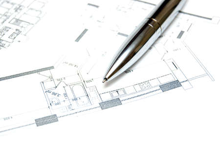 Photo of a blueprint from some flat