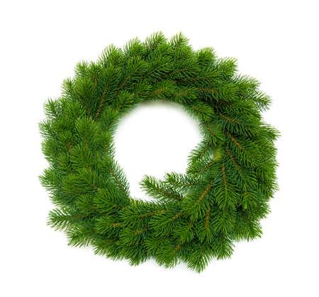 cristmas wreath on white