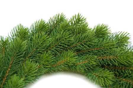 cristmas wreath on white Stock Photo - 8023512