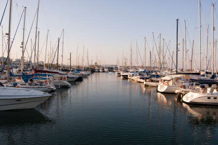 small yachts in a Limassol harbor