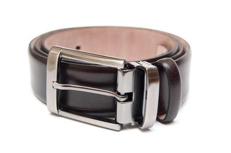 leather belt isolated on white Stock Photo - 8206145