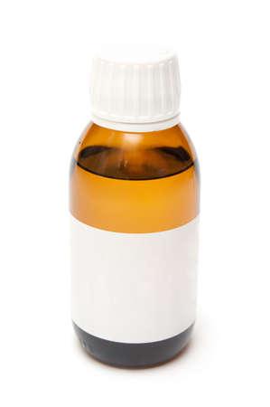 medicine bottle isolate on white