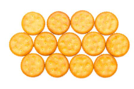 cracker isolated on white background Stock Photo