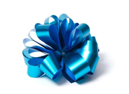 blue shiny bow Stock Photo