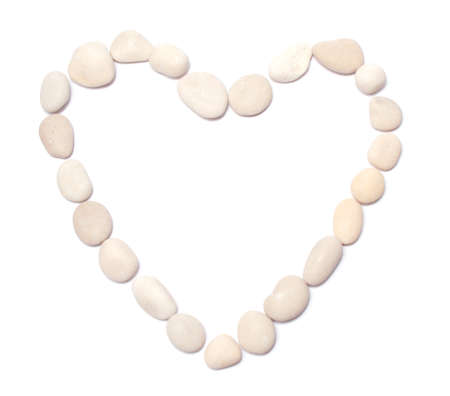 several pebble in the form of heart