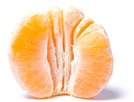 mandarin orange isolated on white